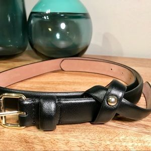 Genuine leather black Ann Taylor Belt - Small